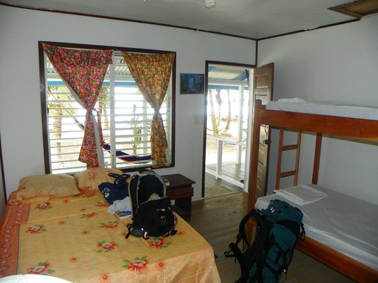 Tobacco Caye Lodge:                   room w/ great breeze!