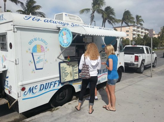 Sheraton Suites Key West:                   Shaved ice truck parked next to hotel.