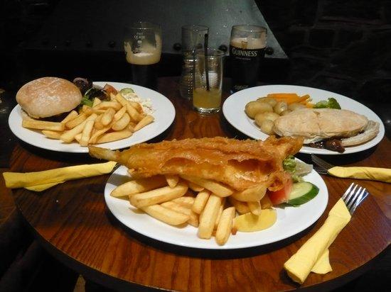 The Anchor Inn: Our meal!