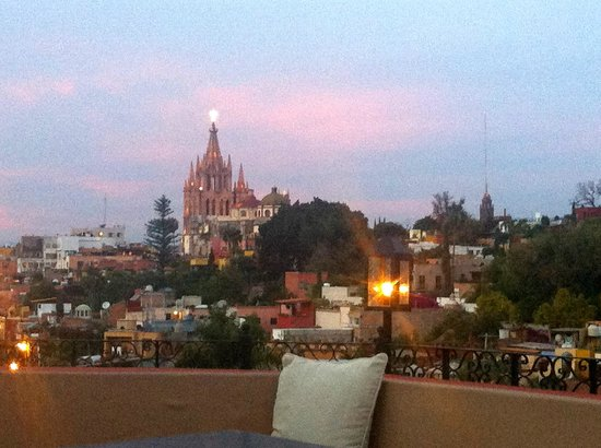 Rosewood San Miguel de Allende: Beatiful view from the rooftop restaurant