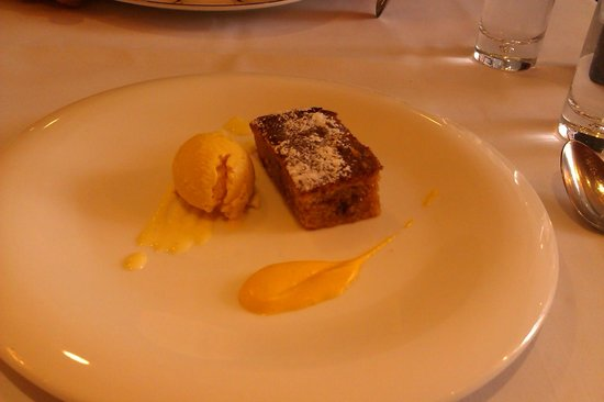Opus Restaurant: carrot cake, carrot ice cream and carrot puree