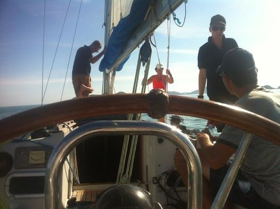 Sail In Asia:                   at the wheel of Tueleg