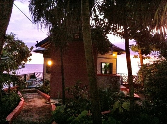 Xtabi Resort:                   Behind cottage #1