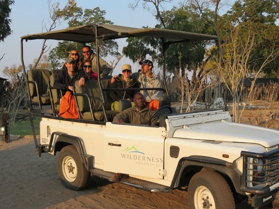 Wilderness Safaris Davison's Camp:                   In the jeep with Robert!