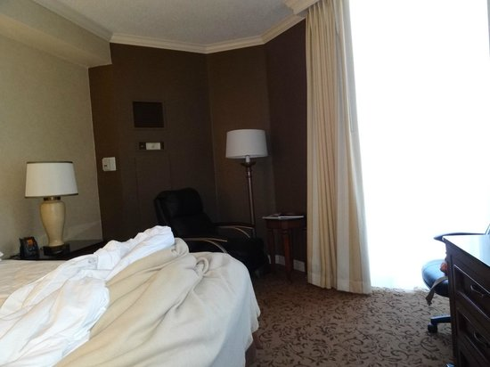 Hilton DFW Lakes Executive Conference Center:                   Other side of room with lounger and open curtain