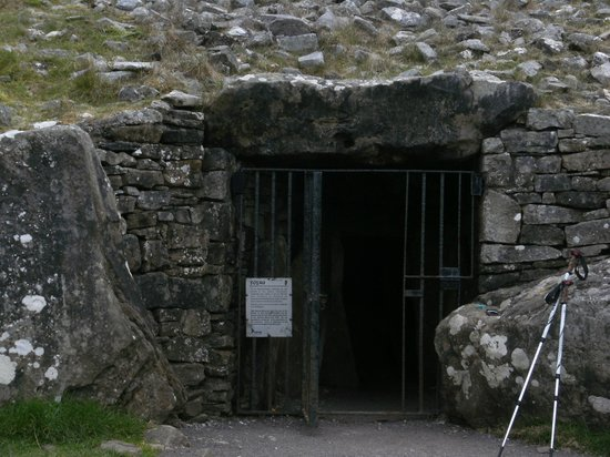 Beautiful Meath Tours: The Entrance to Cairn T at Loughcrew Cairns in Oldcastle in CO.MEATH..