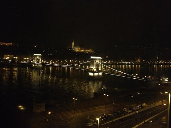 Sofitel Budapest Chain Bridge:                   night view from the room