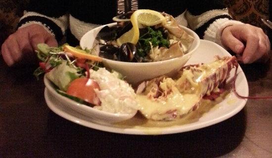 Crown Hotel : My partner's splendid seafood platter. Yum!