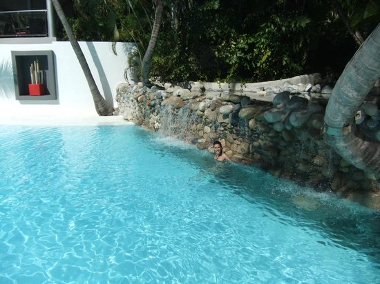 Hotel Riu Naiboa:                   Cascata da piscina