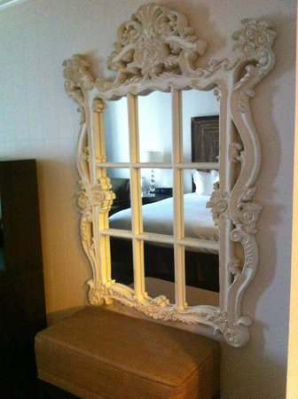 Kimpton Solamar Hotel:                   Beautiful mirror hanging in the room