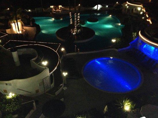 Santa Barbara Golf & Ocean Club by Diamond Resorts:                   The pools at night. Very nice!