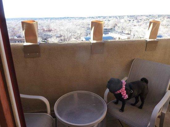 Eldorado Hotel & Spa: View of Santa Fe from private balcony
