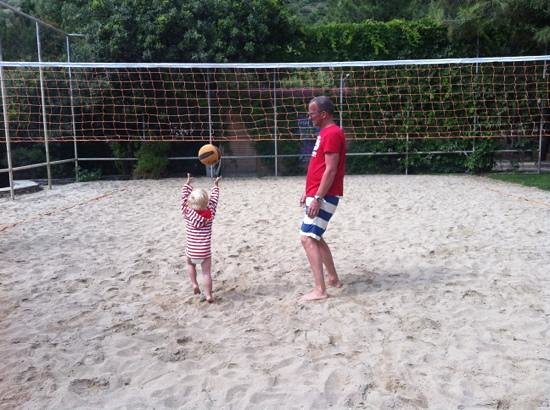 Hapimag Resort Sea Garden:                   learning volleyball at 2 years!