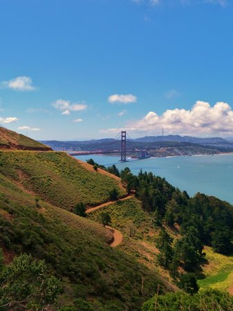 Marin County, แคลิฟอร์เนีย:                   Golden Gate Bridge from Marin Headlands