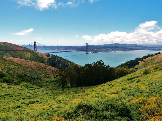 Marin County, Californien:                   Golden Gate Bridge from Marin Headlands