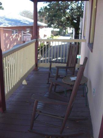 Casa de Solana Bed and Breakfast :                   Montejurra Room balcony