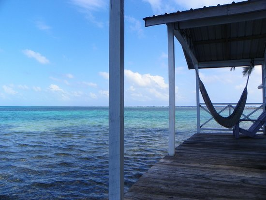 Tobacco Caye Paradise:                   Deck w/hammock. Doesn't get batter!