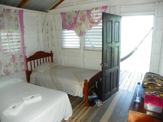 Tobacco Caye Paradise:                   Great room.