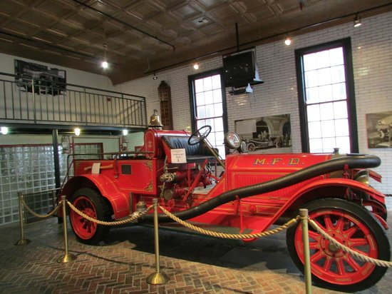 Fire Museum of Memphis: early fire engine on display in Fire House #1