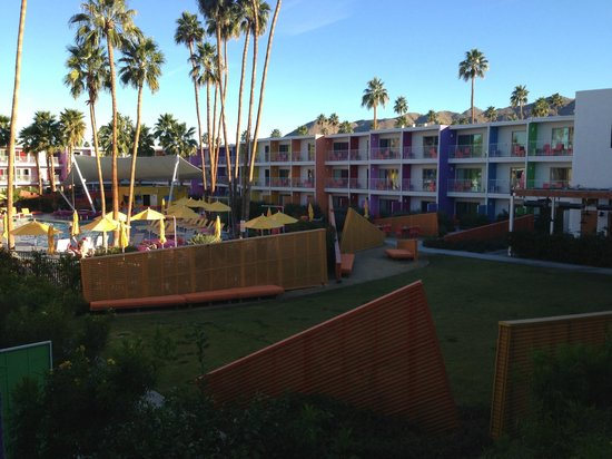 The Saguaro Palm Springs:                   view from balcony