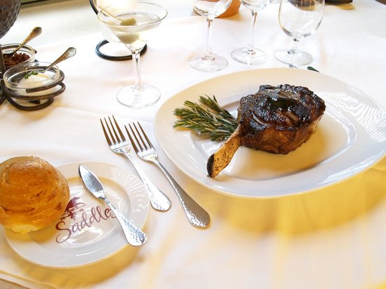 Saddles Steakhouse - MacArthur Place: Saddles Bone-In Ribeye Steak