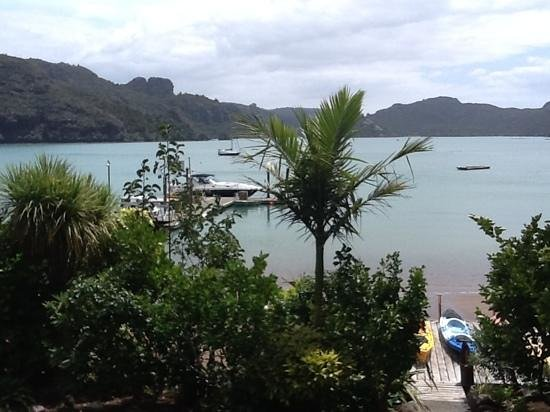 view from Kingfish Lodge, Whangaroa Harbour