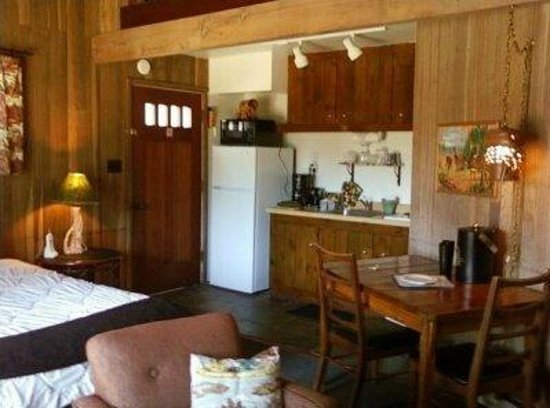 The Andiron -- Seaside Inn & Cabins : Some cabins have kitchenettes - like Cabin 1/Nature.