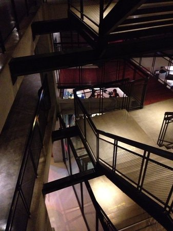 Lub d Bangkok Silom: Staircase leading to all rooms (no lifts though)