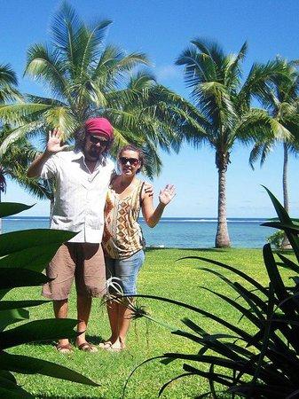 Shangri-La's Fijian Resort & Spa:                   Just outside our deluxe ocean family room