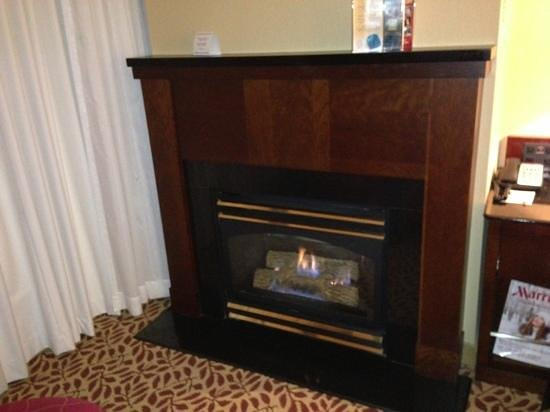 Niagara Falls Marriott Fallsview Hotel & Spa:                   fireplace near the window