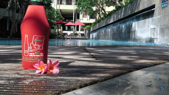 All Seasons Legian Bali:                   Chilling in the pool by the bar - fav spot!! looking towards reception entranc
