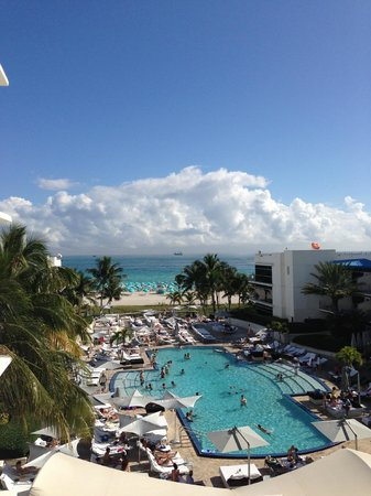 The Ritz-Carlton, South Beach: View from our room - beautiful pool