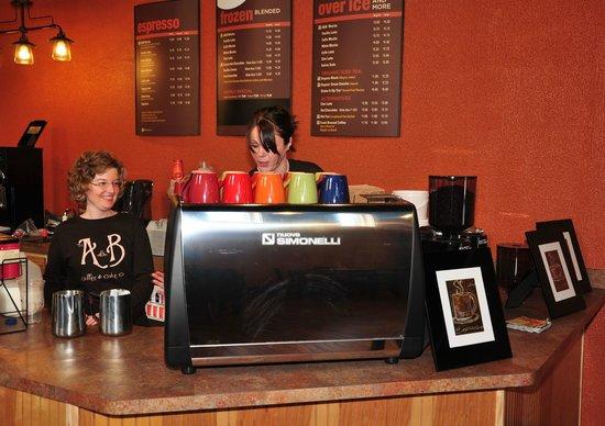 The A & B Coffee & Cake Co.: Inside the shop