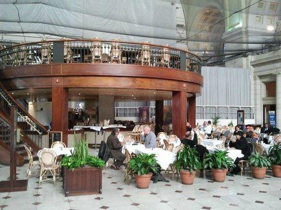 Center Cafe:                   Exterior shot of restaurant