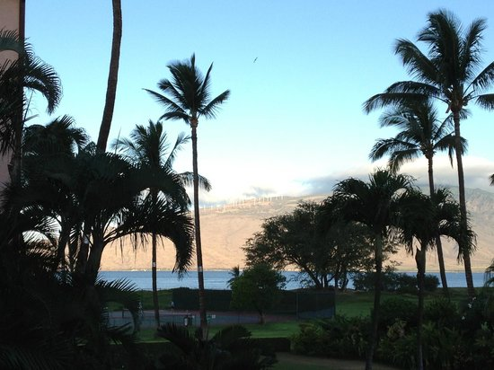 "Maui Schooner Resort :                   View from our lanai in the ""B"" building"