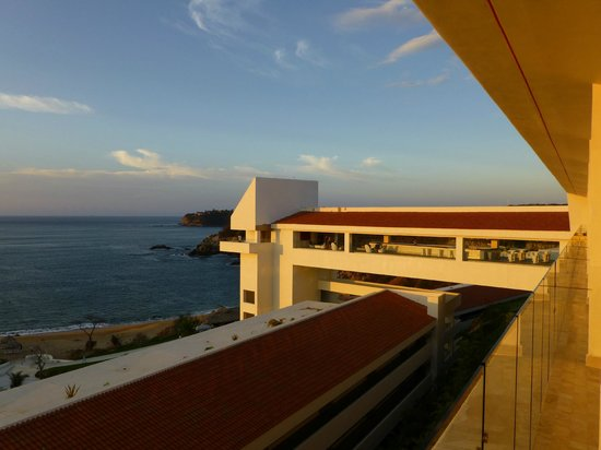 Secrets Huatulco Resort & Spa:                   Sky Bar View from Balcony