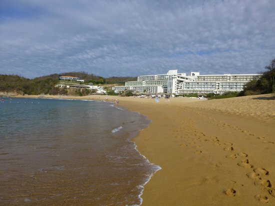 Secrets Huatulco Resort & Spa:                   Hotel from Beach