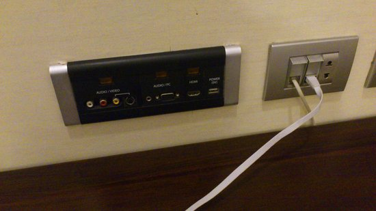 Sofitel Phnom Penh Phokeethra : Connector Ports that connects your computer to the TV