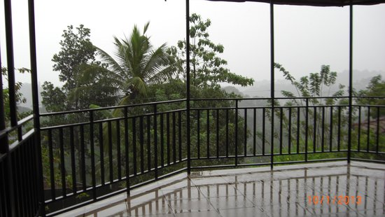 Spica Holiday Home: view from balcony