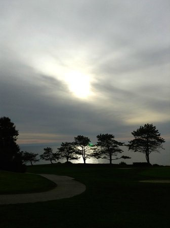 The Lodge at Torrey Pines:                   a view from the golf course out to the ocean
