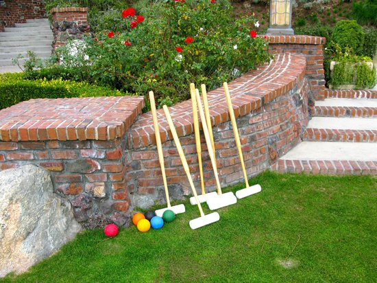 The Lodge at Torrey Pines:                   anyone for croquet