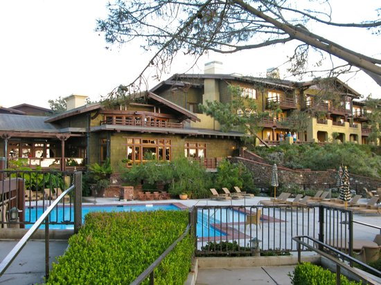 The Lodge at Torrey Pines:                   near the pool