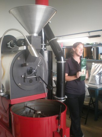 Hula Daddy Kona Coffee: The coffee roasting room