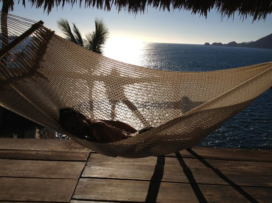 Pepes Hideaway: our hammock! the view from the room 