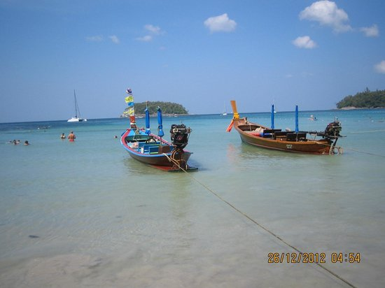 Kantary Bay, Phuket:                   View at Kata Beach Christmas Day A trip organised by the Hotel