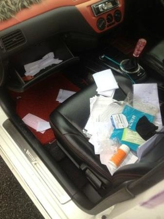 Tune Hotel Danga Bay:                   car ransacked