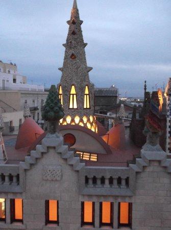 Hotel Gaudi: vista dalla terrazza della camera520