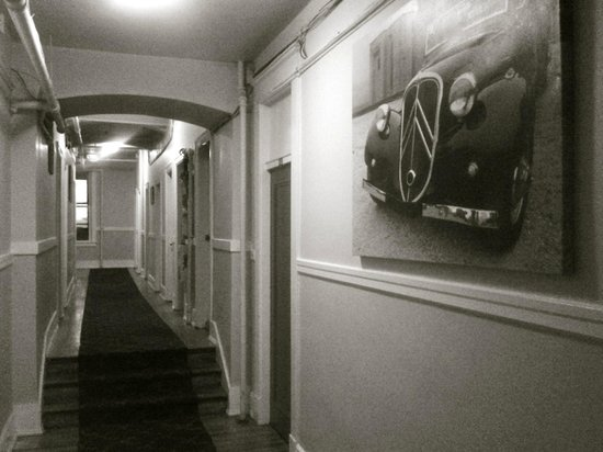 Columbia Hotel: ...2nd floor hallway...