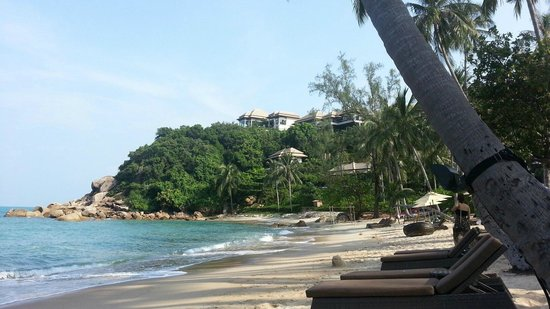 Banyan Tree Samui: Plage de la bay privée