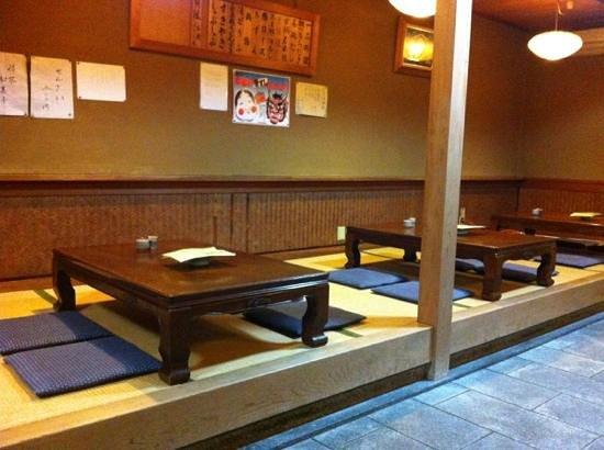 Ryokan Yamazaki:                                     dining area, taken 25th jan 2013